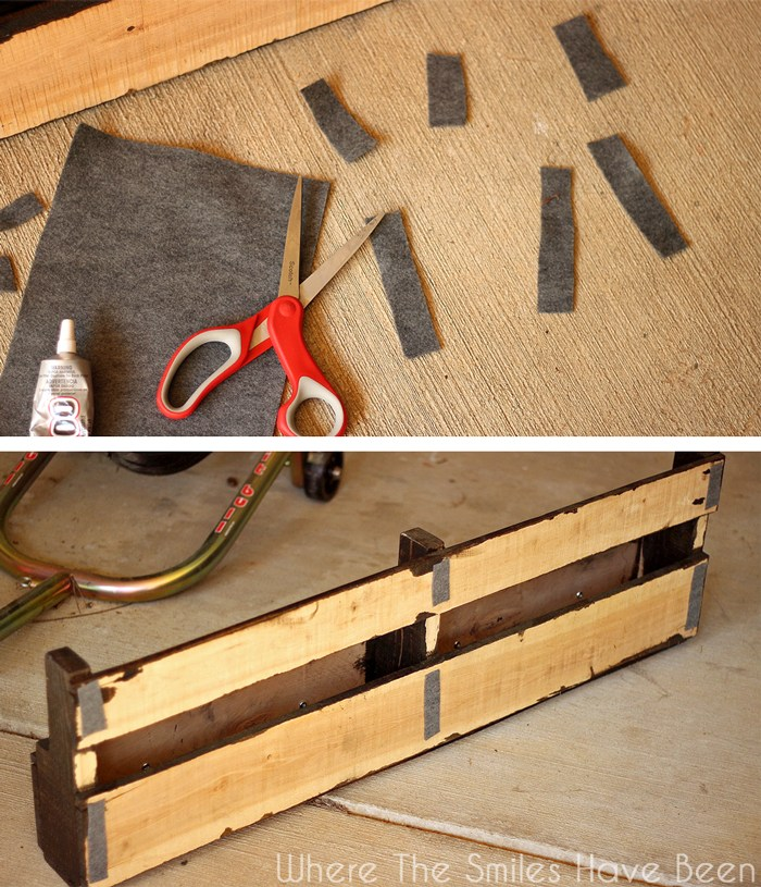 How-to-make-pallet-bookshelves-felt-pads