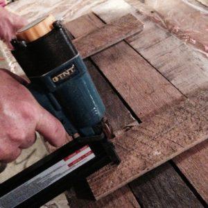nail a wood pallet