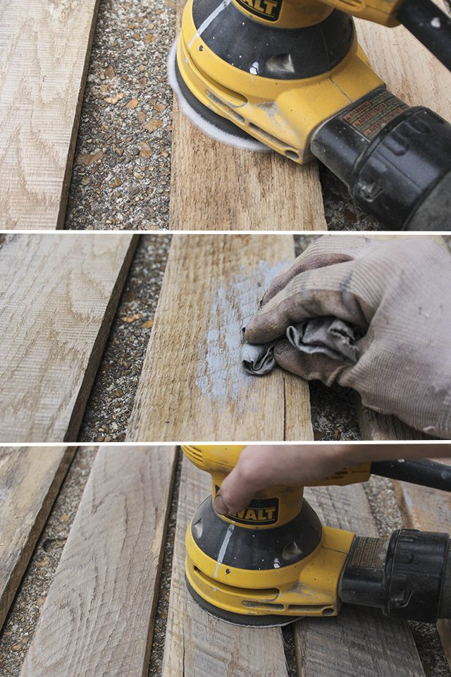 wood palllett hand sander