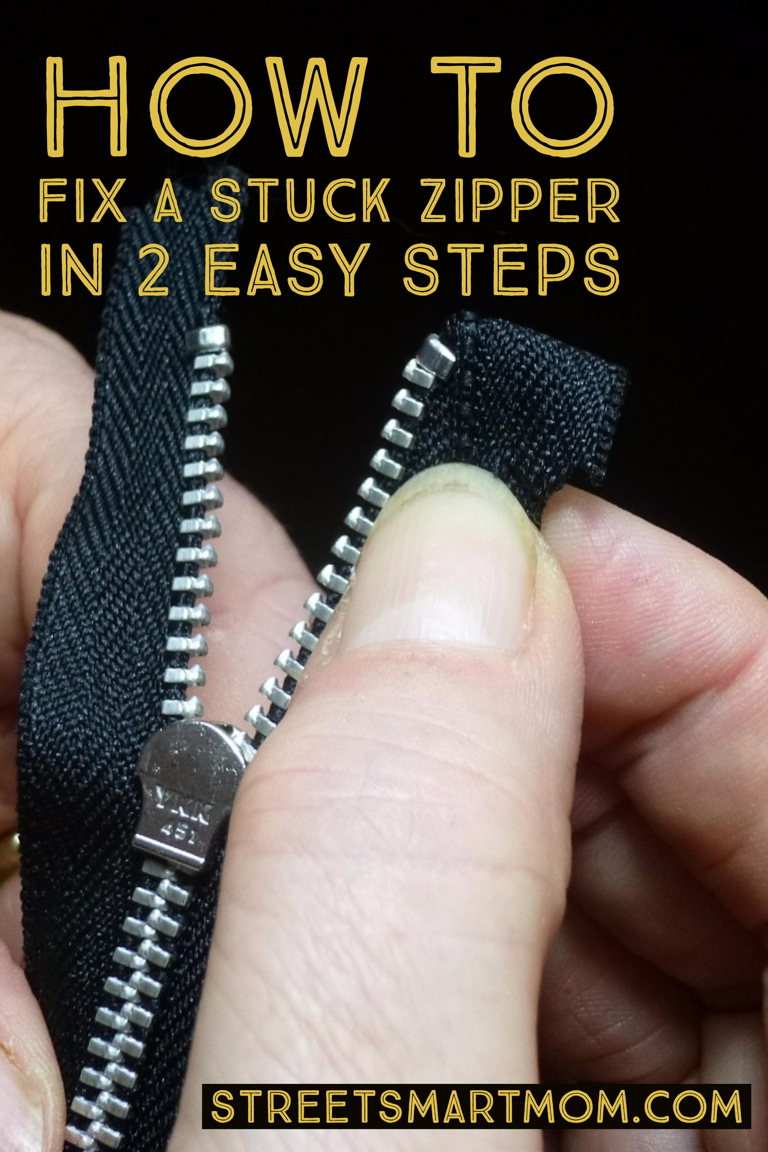 how to fix a stuck zipper